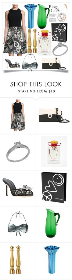 """cocktail dress"" by jamuna-kaalla ❤ liked on Polyvore featuring Theia, Chanel, Brooks Brothers, Dolce&Gabbana, Peace Love World, Tiffany & Co., Eligo, Chiarugi, Dilmos and StreetStyle"