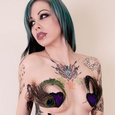 Peacock Love Burlesque Nipple Pasties