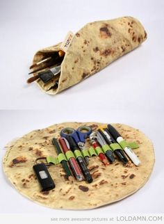 random cool pencil case inventions pita pencils pens laughing bread cases supplies fish money take