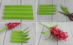 Hyacinten knutselen van papier - Homemade by Joke Collage, Plastic Cutting Board, Iris, Fun, Crafts, Dolls, Gift, School, Baby Dolls