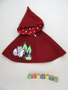 Pixie Capelet  Red Riding Hood Children Cape Poncho by violastudio, $109.00