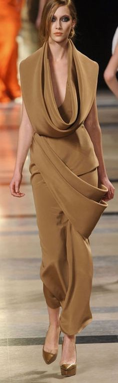Stephane Rolland ~ Camel Maxi Dress, 2015 jαɢlαdy