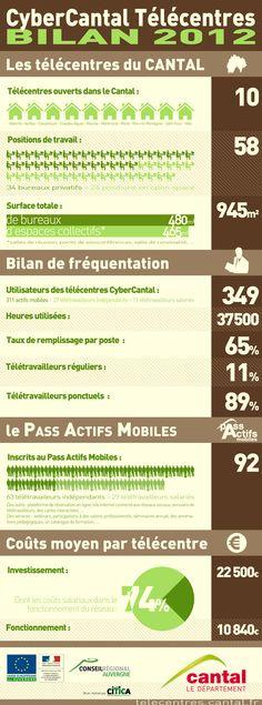Infographie bilan télécentres CyberCantal 2012