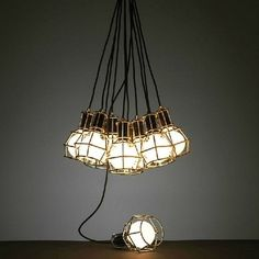 VINTAGE INDUSTRIAL PENDANT IRON RETRO CAFE LOFT CEILING LIGHTS CAGE LAMP SHADE