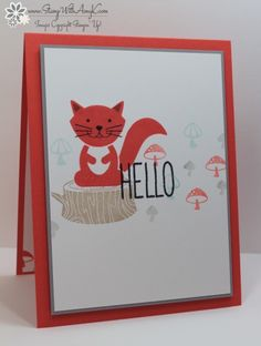 Stampin' Up! Foxy Friends Hello