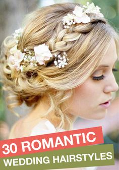 Before you walk down the aisle, check out these beautiful romantic wedding hairstyles