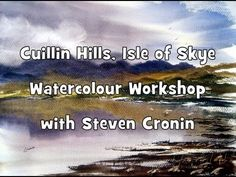 Quick Watercolour Impression of the Cuillin Hills, Isle of Skye