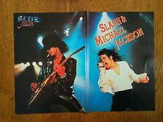 Turkish Magazine's Poster 1992 SLASH & MICHAEL JACKSON On Stage - ORIGINAL - http://www.michael-jackson-memorabilia.com/?p=15957