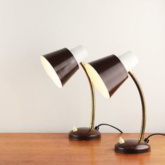 Pair of mid-century table lamps made by Hala Zeist  Made in
