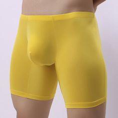 Casual Ice Silk Breathable Soft Sport U Convex Pouch Boxer Briefs for Men