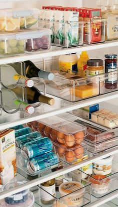 I�m always looking for easy kitchen organization ideas, and these DIY budget-friendly tips are genius! Love this Refrigerator Storage idea from Shelterness! #kitchentips #kitchenideas #organization #organizationideas