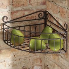 """Don't have much room in your bathroom or kitchen?  This chocolate brown with decorative scrollwork corner shelf would be perfect!  This would look great """"paired"""" with the multi-use caddy!  http://eileenhraha.athome.com/shelves-_-hooks/hampton-bath-corner-shelf.html"""