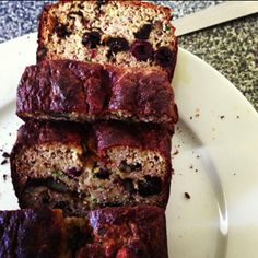 Guilt-free Zucchini, Cranberry & Walnut Loaf - made without any refined sugar, flour or additives!