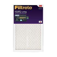 Filtrete Healthy Living Ultra Allergen Reduction Filter, MPR 1500, 16 x 25 x 1-Inches, 6-Pack