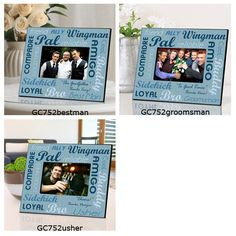 Choose from Best Man Groomsman or Usher. Ideal for memorable Bachelor Party pictures! Frame measures x and holds a x picture. Each line is personalized ...  sc 1 st  Pinterest & 9 Awesome Bridesmaid and Groomsmen Gifts images | Groomsman gifts ...