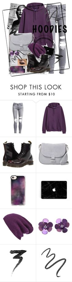 """Hoodies💜"" by majami05 ❤ liked on Polyvore featuring AMIRI, H&M, Dr. Martens, Halston Heritage, Casetify, Halogen, Manic Panic NYC, Maybelline and Hoodies"