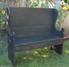"""Outdoor bench the """"Three Musketeers"""" in my cozy mystery series might like to sit on while they're visiting."""