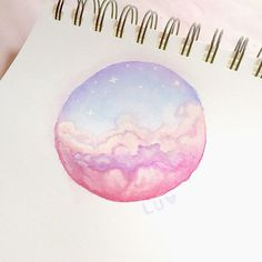 Pastel clouds Sky series - #1  Since this is an art-only account I'm gonna be re-posting my fave bits from my personal insta!  #painting #drawing #watercolor #winsorandnewton #acrilyc #sky #clouds #pastel #pastelclouds #sunset #pastelsunset #sunsetpainting #summer #babyblue #pastelpink #peachypink #lilac #soft #skyseries