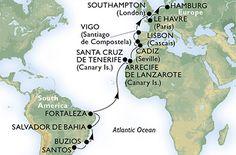 Espanha, Portugal, Reino Unido, França, Alemanha