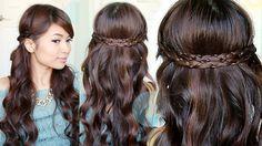 Irregular Braid Headband Hairstyles + GIVEAWAY NuMe Magic Wand, via YouTube.
