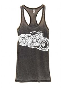 NEW Womens Vintage Indian MOTORCYCLE Print by FreeBirdCloth, $22.00