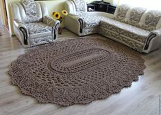 Crochet beautiful and unusual brown rug for home. Free patterns for crochet brown rug Crochet Diagram, Free Crochet, Knit Crochet, Easy Crochet, Crochet Books, Crochet Stitch, Crochet Cushions, Crochet Pillow, Slip Stitch