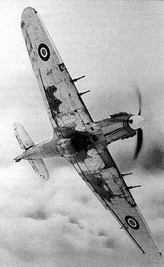 Hawker Hurricane British by Hawker Aircraft Ltd for the Royal Air Force (RAF). Aircraft Photos, Ww2 Aircraft, Fighter Aircraft, Military Aircraft, Fighter Jets, Photo Avion, Hawker Hurricane, Ww2 Planes, Vintage Airplanes