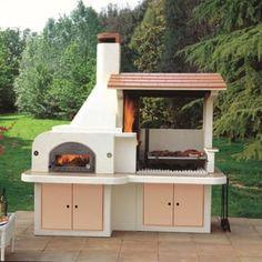 Barbecue in muratura con cappa e forno -