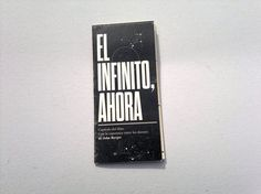 """Experimental Brochure - """"El infinito, ahora"""" on Behance"""