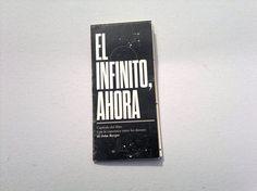 """Experimental Brochure - """"El infinito, ahora"""" by Boris Vargas Vasquez, via Behance"""
