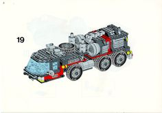 LEGO 5590 Whirl and Wheel Super Truck instructions displayed page by page to help you build this amazing LEGO Model Team set Lego Basic, Lego Sets, Lego Models, Lego Instructions, Everyday Objects, Decoration, Planer, Projects To Try, Trucks
