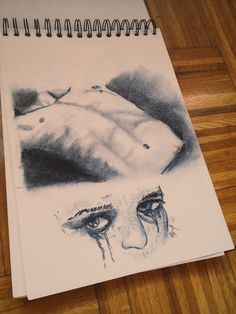 #torso #carboncillo #ojos #eyes #crying done by me.