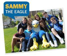 Sammy the Eagle - Mascot of Kirkwood Community College | Cedar Rapids, Iowa