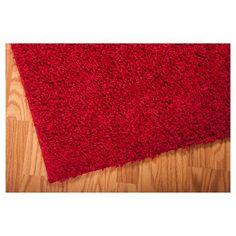 Nourison Solid Bonita Shag Accent Rug - Red (3'X5')