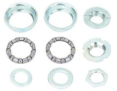 Bottom Bracket Set 1/Piece Crank 5/16 x 9 24t Chrome. It only fits 24 tpi one piece threaded crank arm. one-piece is also called Ashtabula crank. Set of 9 pcs, Cup Size: 51.5mm, Ball Retainer: 5/16 x 9.