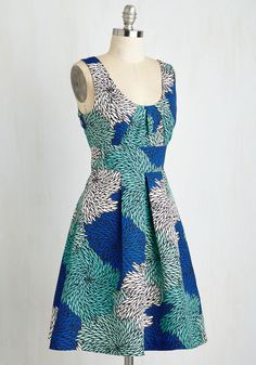 Mums the Whirled Dress. Its no secret that your fashion sense is admired all around - especially when youre collecting compliments aplenty in this Tracy Reese dress! #blue #modcloth
