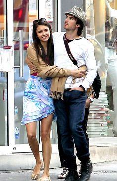Ian Somerhalder and Nina Dobrev - man he is one lucky son of a b***h. Even though they broke up.