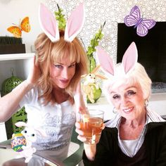 Pin for Later: Stars Share Fun Instagrams of Their Festive Easter Celebrations  Kathy Griffin threw an animated party with her hilarious mom, Maggie Griffin.