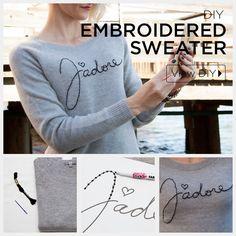 DIY Embroidered Swea