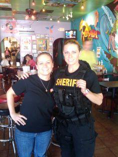 Andrea Penoyer (Police Women of Broward County) at Tijuana Flats.