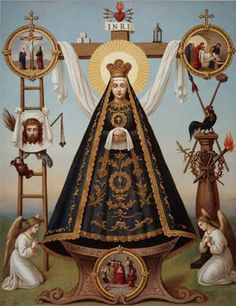 Beautiful pictures of Mary for the month of May Blessed Mother Mary, Divine Mother, Blessed Virgin Mary, Catholic Art, Catholic Saints, Religious Art, Virgin Mary Art, Pictures Of Mary, Colonial Art