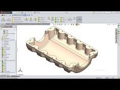 SolidWorks Tutorial Engine Oil Pan - YouTube