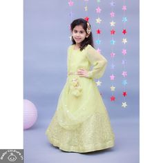This Fancy Georgette Green Anarkali Dress is elegant and classy. Not only is the dress tradition but also is a stylish attire for any party occasion. Shop now! For more information, Whatsapp at - 09294000000 Beautiful Dresses, Nice Dresses, Girls Dresses, Cotton Anarkali Dress, Baby Dress Online, Baby Girl Dress Patterns, Baby Couture, Birthday Dresses, Girls Shopping