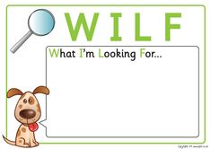 Teacher's Pet - WALT & WILF Posters - FREE Classroom Display Resource - EYFS, KS1, KS2, learning, to, looking, for, walt, wilf