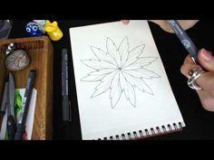 Drawing One Tangle Mandala - Wings - YouTube