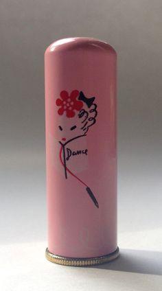 """Lenthéric """"Spitfire"""" Lipstick, c. Retro Makeup, Vintage Makeup, Vintage Glam, Vintage Vanity, Cute Makeup, Vintage Beauty, Vintage Ads, Lipstick Case, Lipstick Holder"""