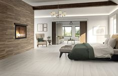 a nice bedroom Wood Effect Porcelain Tiles, Natural Bedding, Data Sheets, Linen Bedding, Bed Linen, Awesome Bedrooms, Wood Planks, Muted Colors, Made In America