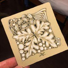 Renaissance tile,Sampson #drawing #zentangle #art