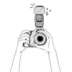 Illustration of DSLR camera , Camera Sketches, Camera Drawing, Camera Illustration, Character Illustration, Retro Camera, Camera Icon, Film Camera, Camera Clip Art, Instagram Highlight Icons