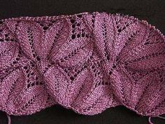 Delicadezas en crochet Gabriela: Esquema de punto en dos agujas